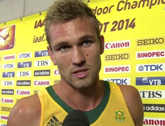 Andre Olivier sets SA 600m record in Birmingham