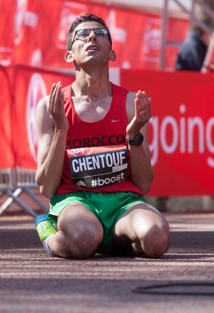2014 London Marathon T12 winner - El Amin Chentouf from Morocco