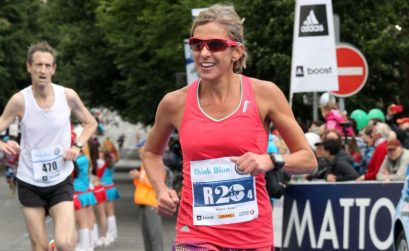 Elana Meyer running in Prague on Sunday / Photo Credit: Volkswagen Prague Marathon