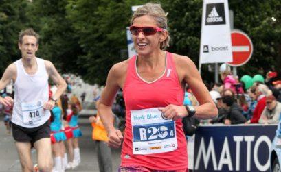 Elana Meyer running in Prague on Sunday / Photo Credit: Volkswagen Prague Marathon
