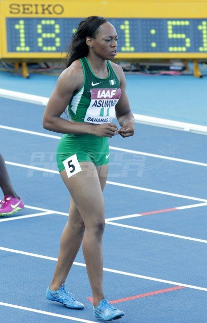 Nigeria athlete Gloria Asumnu