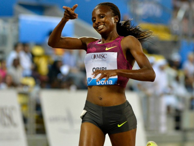 Hellen Obiri wins in Doha - Photo: Doha LOC / Hasse Sjögren