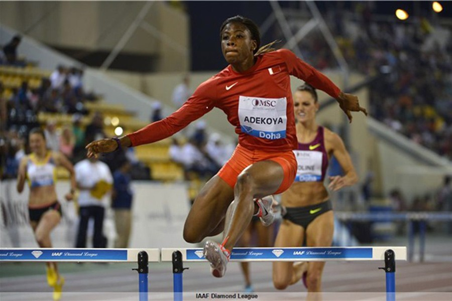 Kemi Adekoya at the 2014 IAAF Diamond League in Doha, Qatar / Photo: IAAF Diamond League