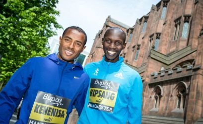 Kenenisa Bekele and Wilson Kipsang at Bupa Great Manchester Run