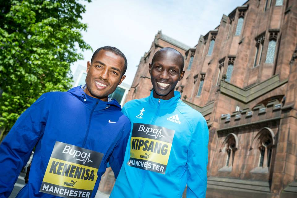 Kenenisa Bekele and Wilson Kipsang at Bupa Great Manchester Run