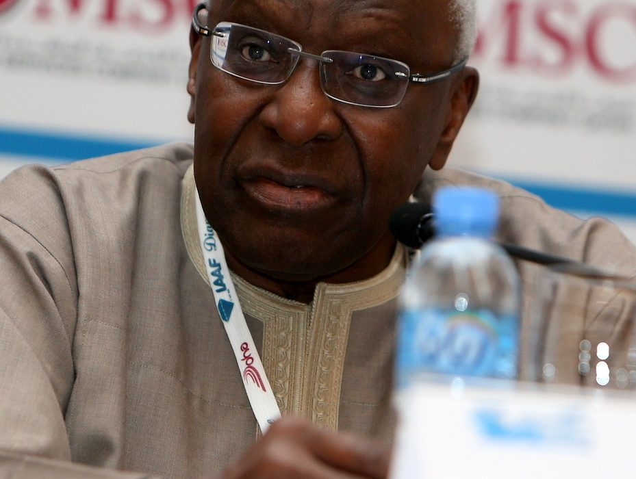 IAAF President, Lamine Diack at the 2014 IAAF Diamond League in Doha / Photo credit: Doha LOC.