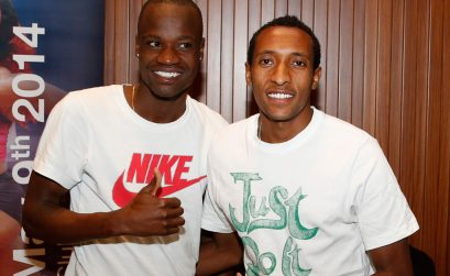African 800m stars Mohammed Aman of Ethiopia and Nijel Amos of Botswana / Photo credit: Doha LOC