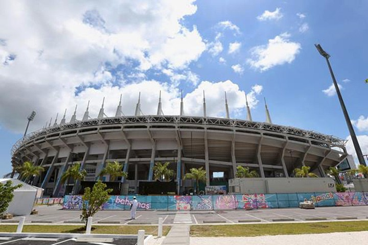 The Thomas A Robinson Stadium in Nassau, host of the 2014 IAAF World Relays / © Copyright (Getty Images)