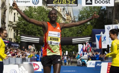 2013 winner Nicholas Kemboi / Photo credit: Volkswagen Prague Marathon