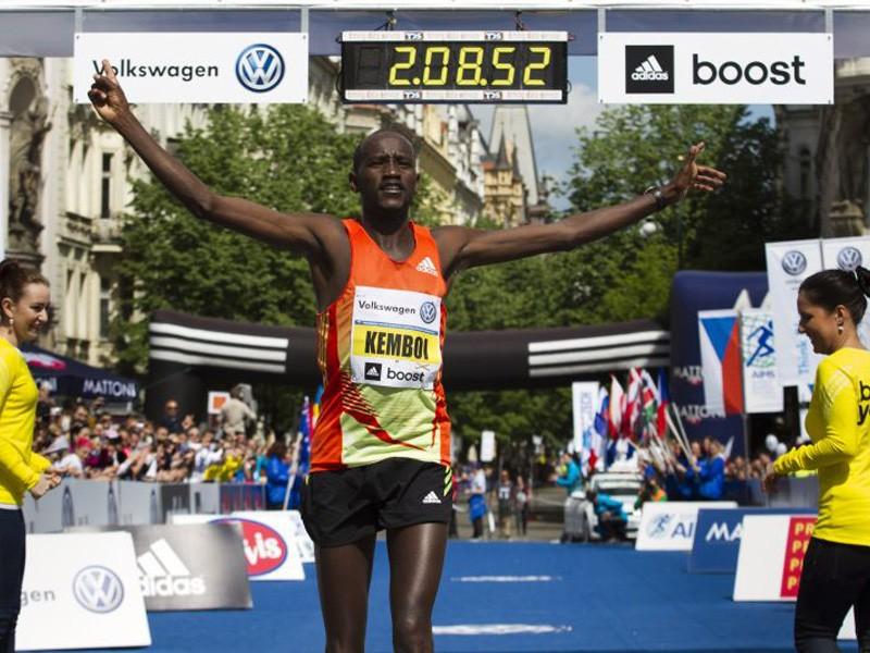 2013 winner Nicholas Kemboi / Photo credit: Volkswagen Prague Marathon