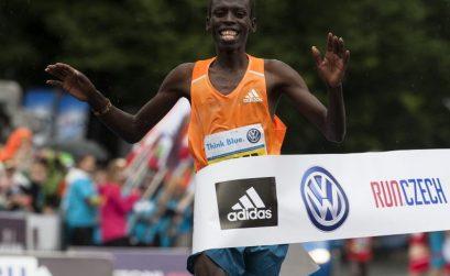Prague Marathon 2014 male race winner Patrick Terer / Photo credit: Volkswagen Prague Marathon