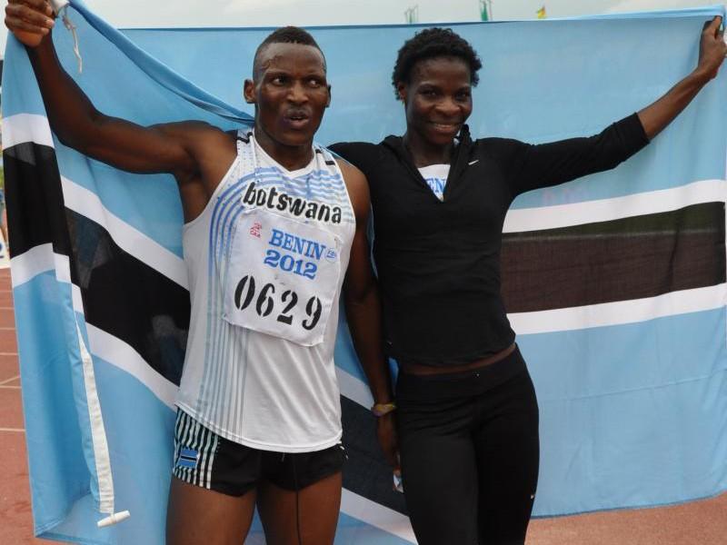 Botswana's pride: Isaac 'Izak' Makwala and Amantle Montsho / Photo creidt: Yomi Omogbeja