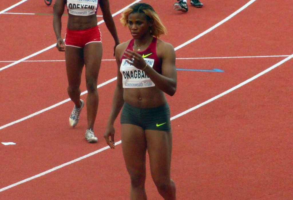 Blessing Okagbare at the 2014 All Nigeria Athletics Championships in Calabar