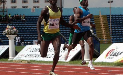 Isah Salihu wins men's 400m race ahead of Noah Akwu at the 68th All-Nigerian Athletics Championships in Calabar.