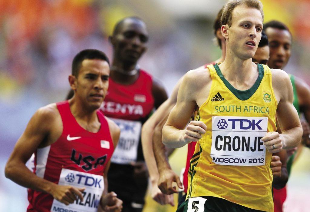 South Africa's Johan Tobias Cronje at the IAAF Diamond League - Eugene 2014 / Photo: IAAF/ Getty