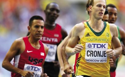 South Africa's Johan Tobias Cronje at the IAAF Diamond League - Eugene 2014 / Photo: IAAF/ Getty