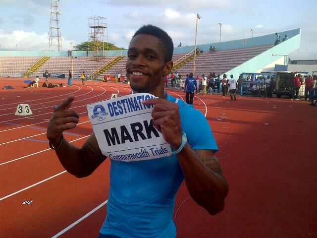 Mark Jelks wins the Men's 100m ahead of Mozavous Edwards at Calabar 2014 / Photo credit: Tunde Eludini