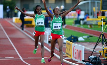 Alemitu Haroye led a one-two for Ethiopia and outsprinted her team-mate Alemitu Hawi in the final stretch to win the 5000m title with a time of 15:10.08 at the 2014 IAAF World Junior Championships - Oregon 2014 / Photo credit: TrackTown Photo