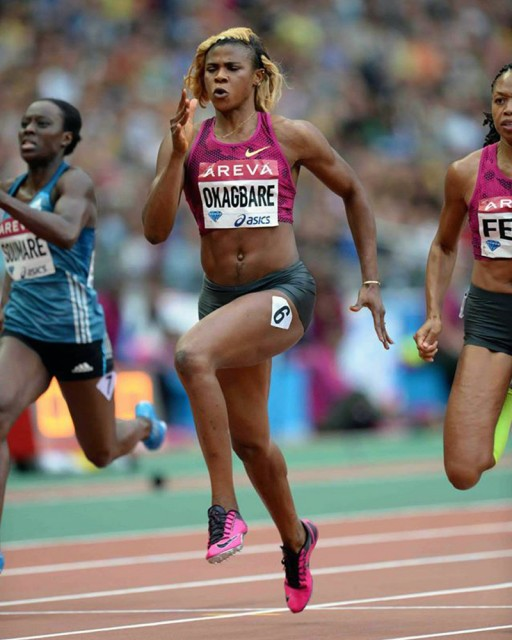 Blessing Okagbare winning the women's 200m at the Meeting Areva - IAAF Diamond League in Paris, France / © Jiro Mochizuki / IDL