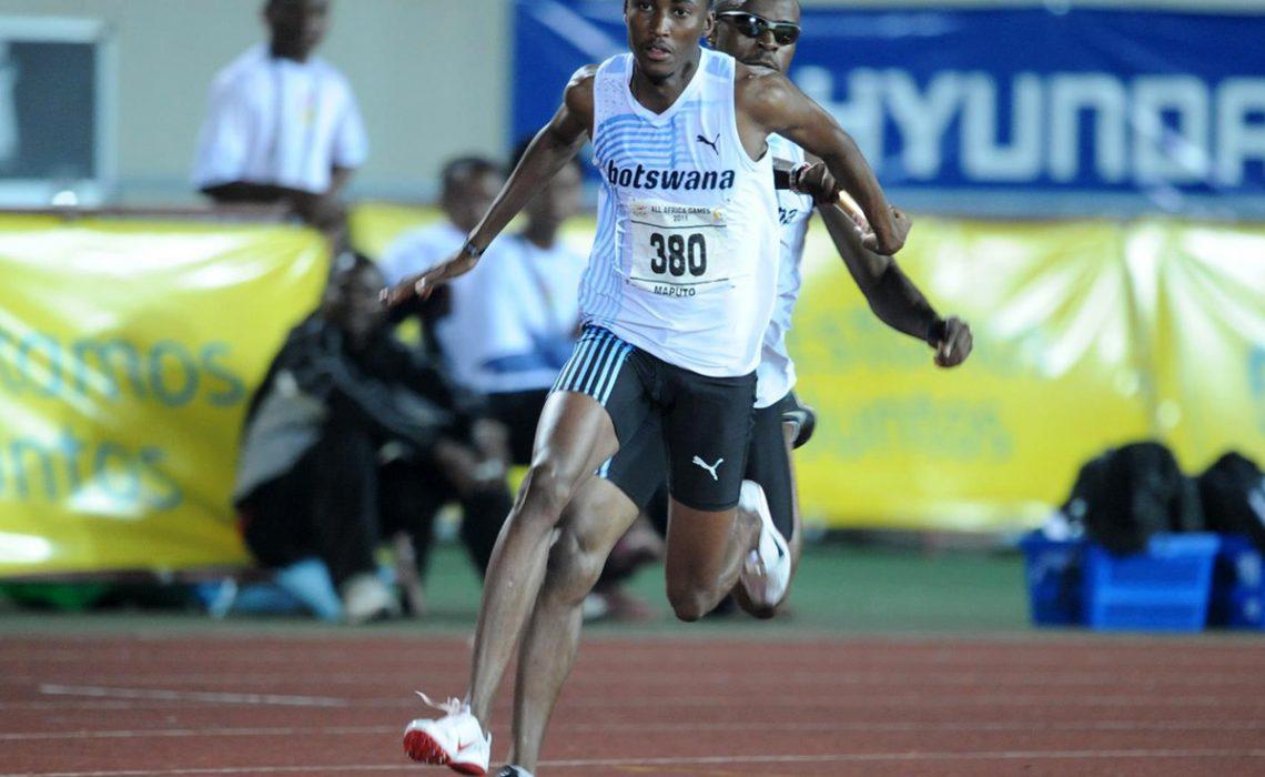 Botswana's budding 400m runner, Pako Seribe during the All-Africa Games in Maputo 2011.