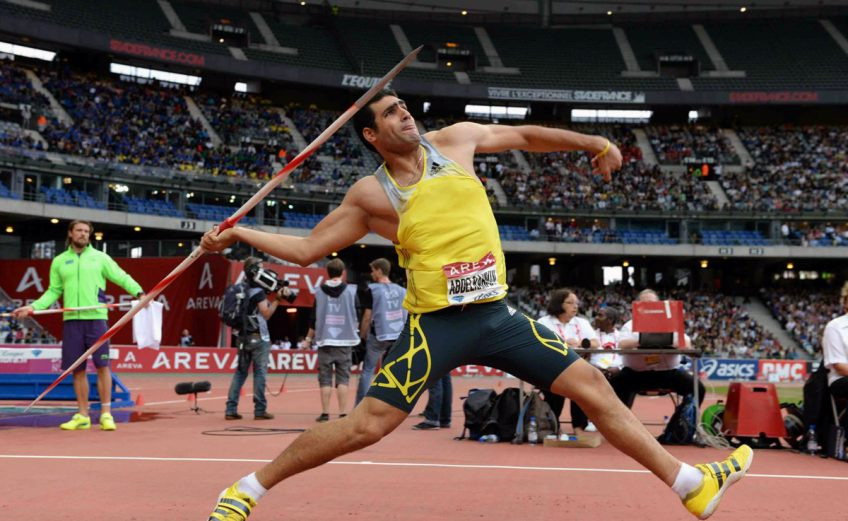 Egypt's Abdelrahman El Sayed bounced back to win the Men's Javelin at the Meeting Areva 2014 - IAAF Diamond League in Paris, France / © Jiro Mochizuki / IDL