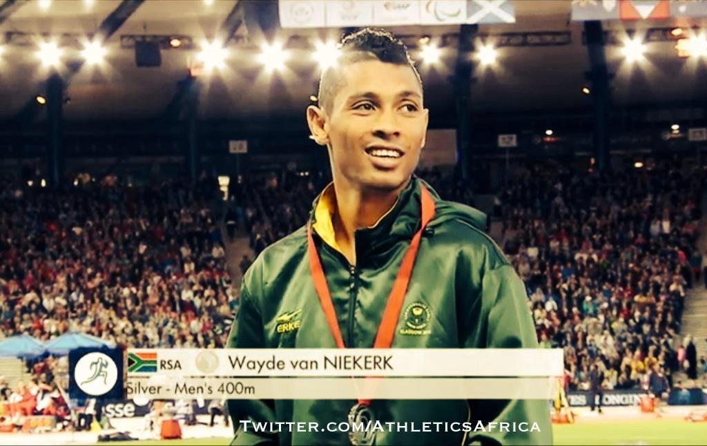 South Africa's Wayde van Niekerk wins 400m silver medal in Glasgow