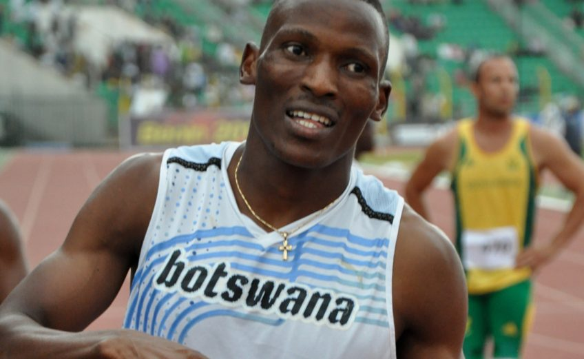 Isaac Izuu Makwala of Botswana in action at the 2012 African Athletics Championships in Porto-Novo, Benin Republic / Photo credit: Yomi Omogbeja