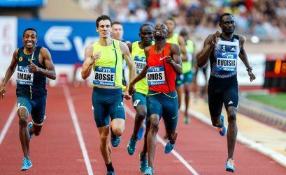 Men's 800m race won by Nijel Amos at the Herculis monaco 2014 - with David Rudisha, Mohammed Aman etc / © Philippe Fitte