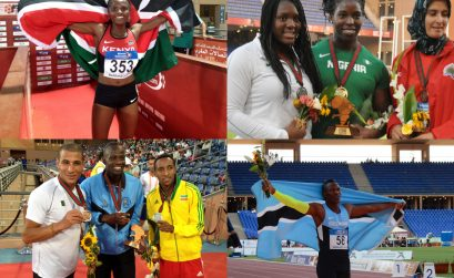 Winners on day 3 at the 19th African Senior Athletics Championships in Marrakech / Photo credit: Yomi Omogbeja