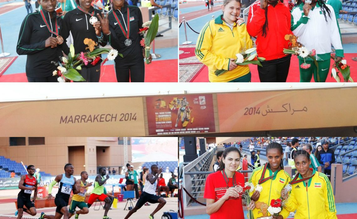 Day 5 winners at the 2014 African Senior Athletics Championships - Marrakech 2014