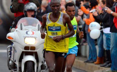 Philemon Limo running in Usti nad Labem in 2013 / Mattoni Usti nad Labem Half Marathon / Vaclav Mudra