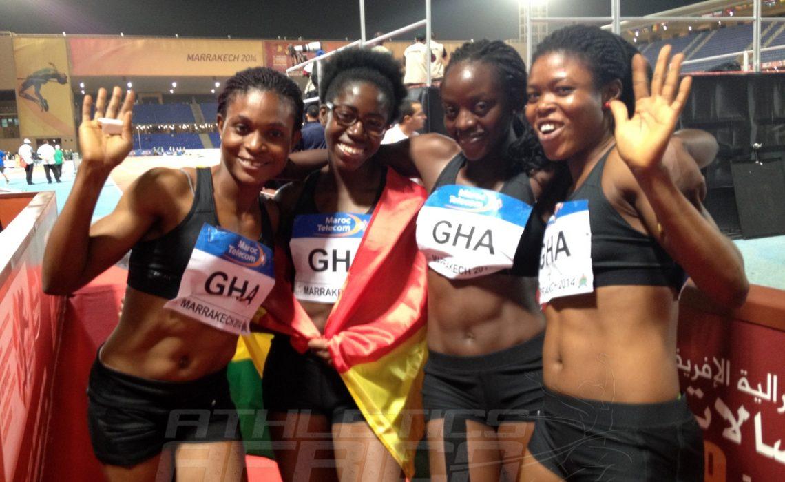 Ghana's 4x100m women's team / Photo credit: Yomi Omogbeja