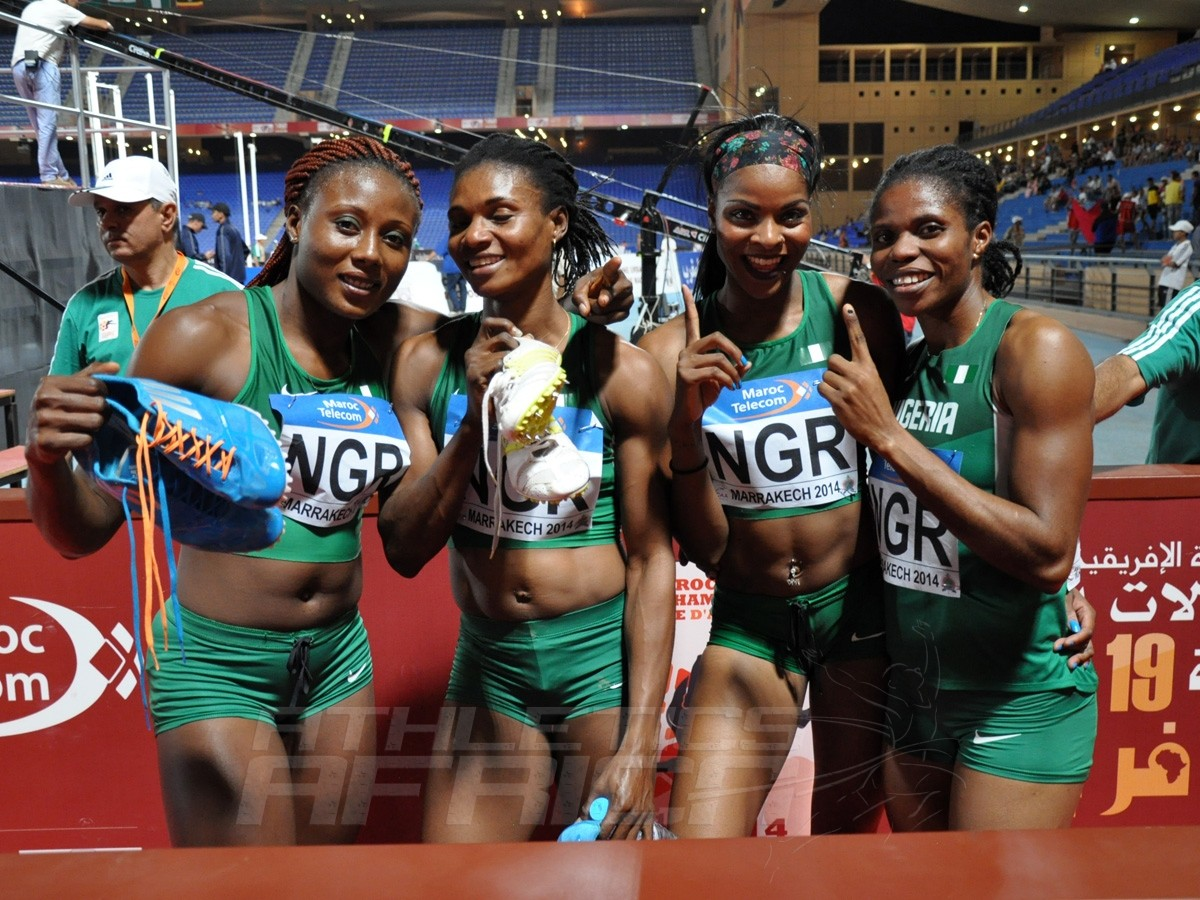 Nigeria's 4x400m women's team / Photo credit: Yomi Omogbeja
