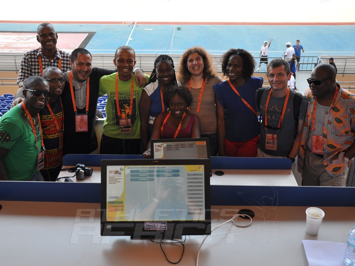 A group of African Sports Journalists at Marrakech 2014 / Photo credit: Yomi Omogbeja
