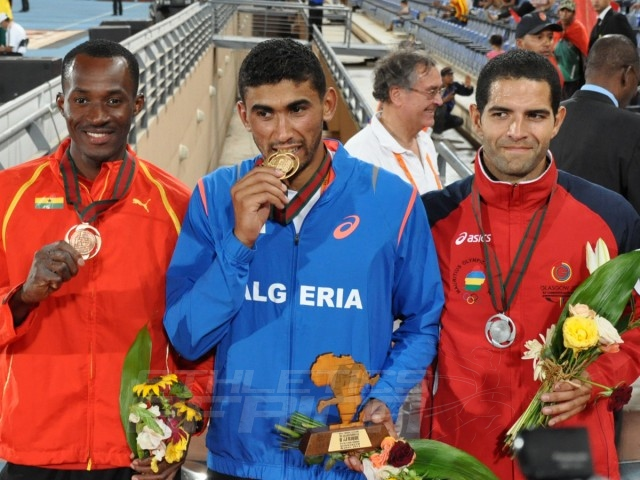 Atsu Nyamadi - Larbi Bourrada - Guillaume Thierry - Decathlon Men / Photo credit: Yomi Omogbeja