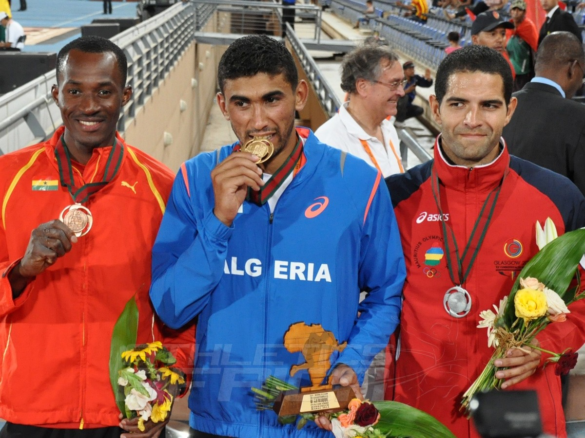 Atsu Nyamadi - Larbi Bourrada - Guillaume Thierry - Decathlon Men / Photo credit: Yomi Omogbeja
