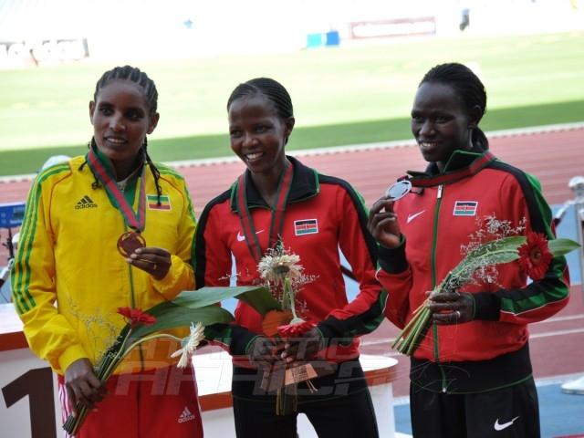 Belaynesh Ojira Jemama - Joyce Chepkirui - Emily Chebet - 10000m women / Photo credit: Yomi Omogbeja
