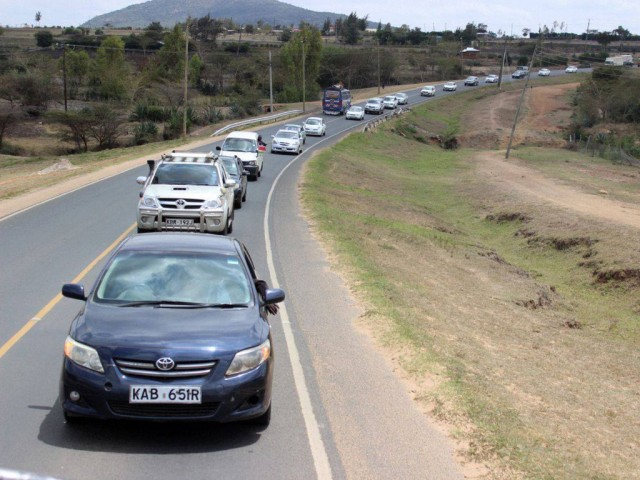 Motorcade to escort Caleb Mwangangi Ndiku on his ultimate homecoming to Machakos County, Kenya.
