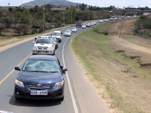 Motorcade to escort Caleb Mwangangi Ndiku on his ultimate homecoming to Machakos County, Kenya.