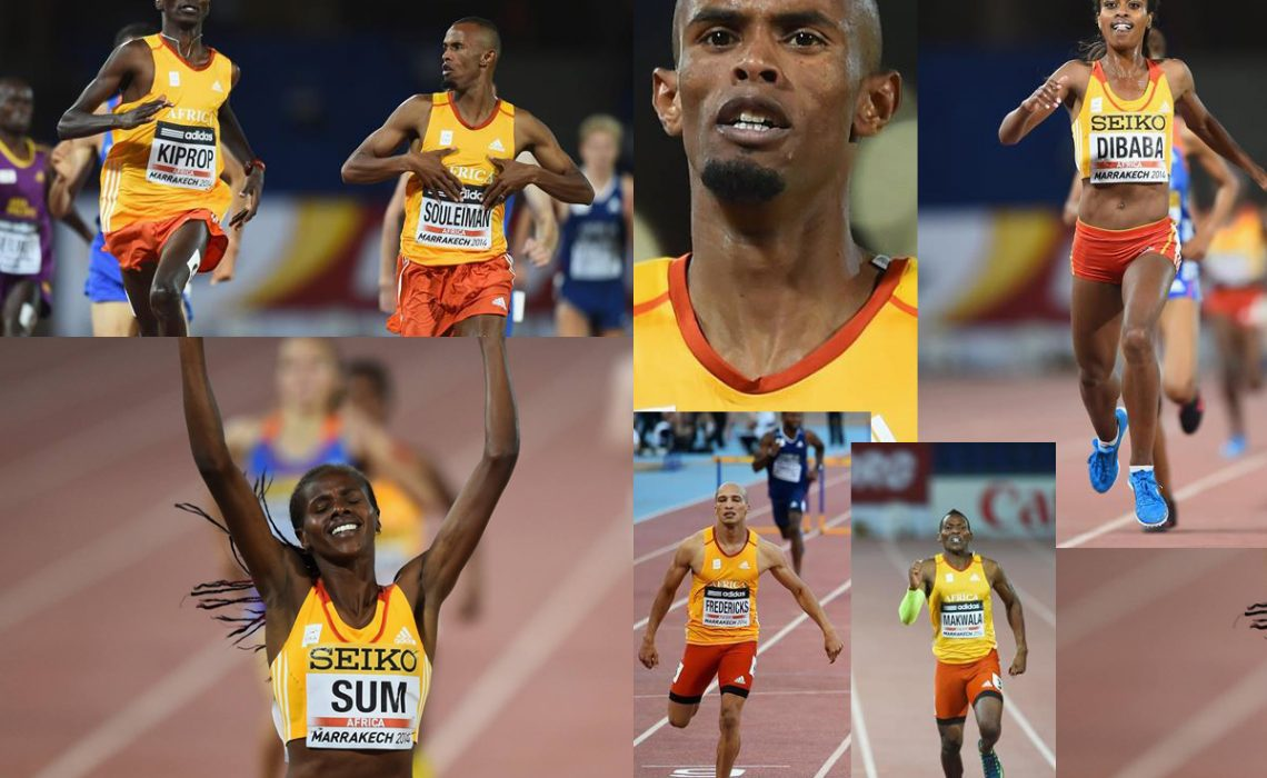 Team Africa mash-up - Day 1 IAAF Continental Cup Marrakech 2014 / Photo: Getty Images / AthleticsAfrica