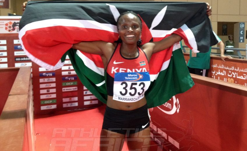 Hellen Obiri won the women's 1500m in 4:09.53 at the 2014 Africa Senior Athletics Championships in Marrakech last month / Photo credit: Yomi Omogbeja