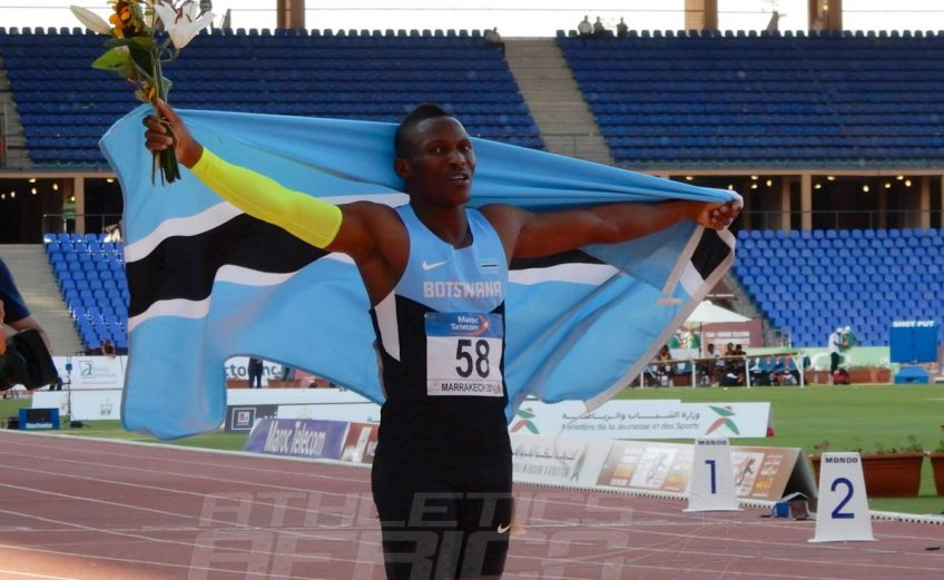 Isaac Makwaala of Botswana after winning the men's 400m in a Championships Record of 44.23 secs in Marrakech - August 2014 / Photo Credit: Yomi Omogbeja