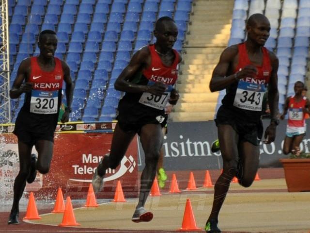 Jairus Birech - Jonathan Ndiku - Ezekiel Kemboi - 3000m SC Men / Photo credit: Yomi Omogbeja