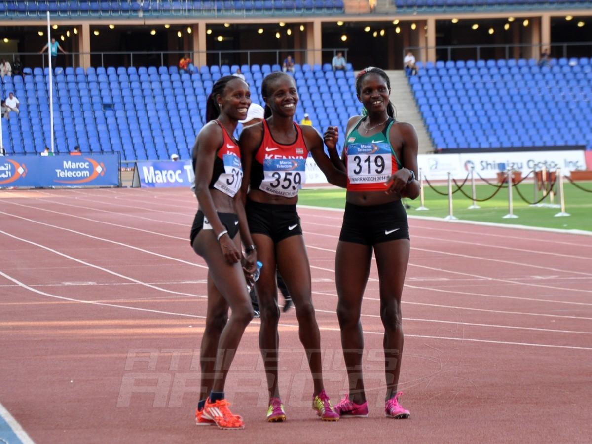 Janeth Jepkosgei - Eunice Sum - Agatha Jerutho - 800m Women / Photo credit: Yomi Omogbeja