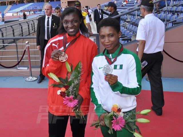 Joelle Mbumi Nkouindjin - Chinasom Amadi - Long jump women / Photo credit: Yomi Omogbeja