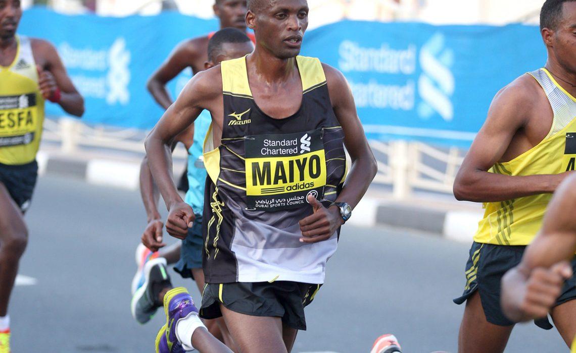 Jonathan Maiyo in the 2014 Tokyo Marathon - Victah Sailer / Photorun.net