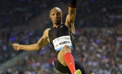 South African Godfrey Khotso Mokoena winning the men's Long Jump in a season's best of 8.19m in Brussels / Photos: © Gladys Chai von der Laage