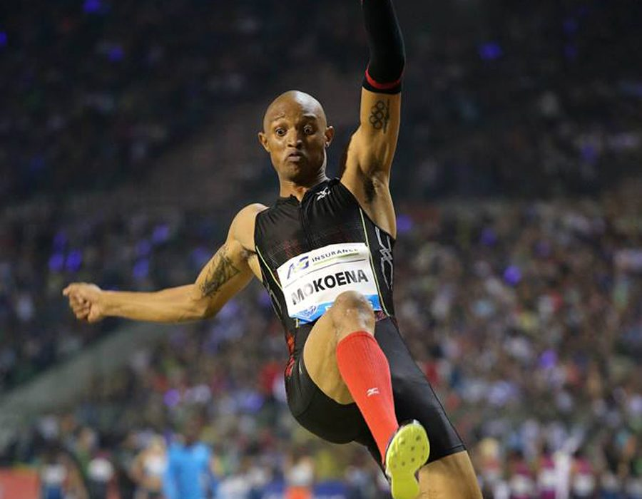 South African Godfrey Khotso Mokoena winning the men's Long Jump in a season's best of 8.19m in Brussels / Photos: © Gladys Chai von der Laage