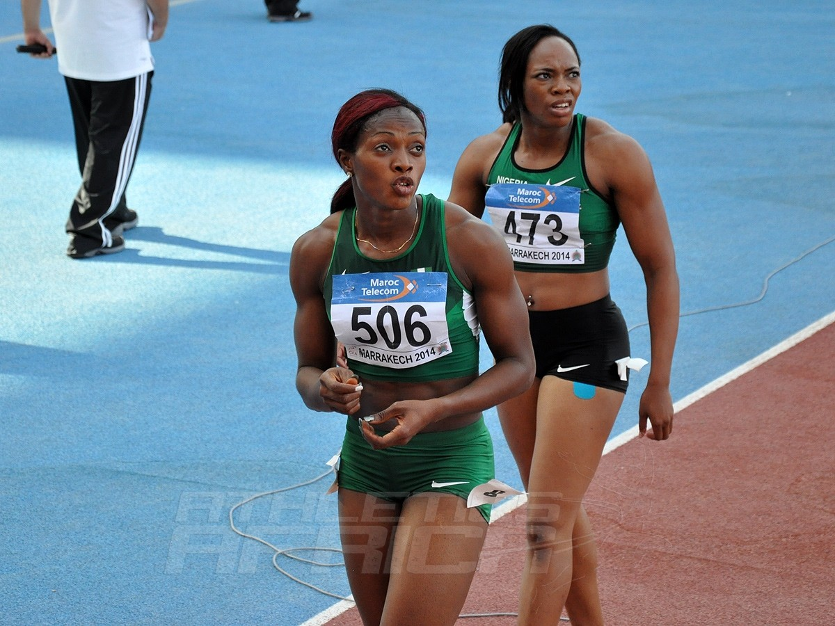 Lawretta Ozor - Gloria Asumnu - 100m Women / Photo credit: Yomi Omogbeja