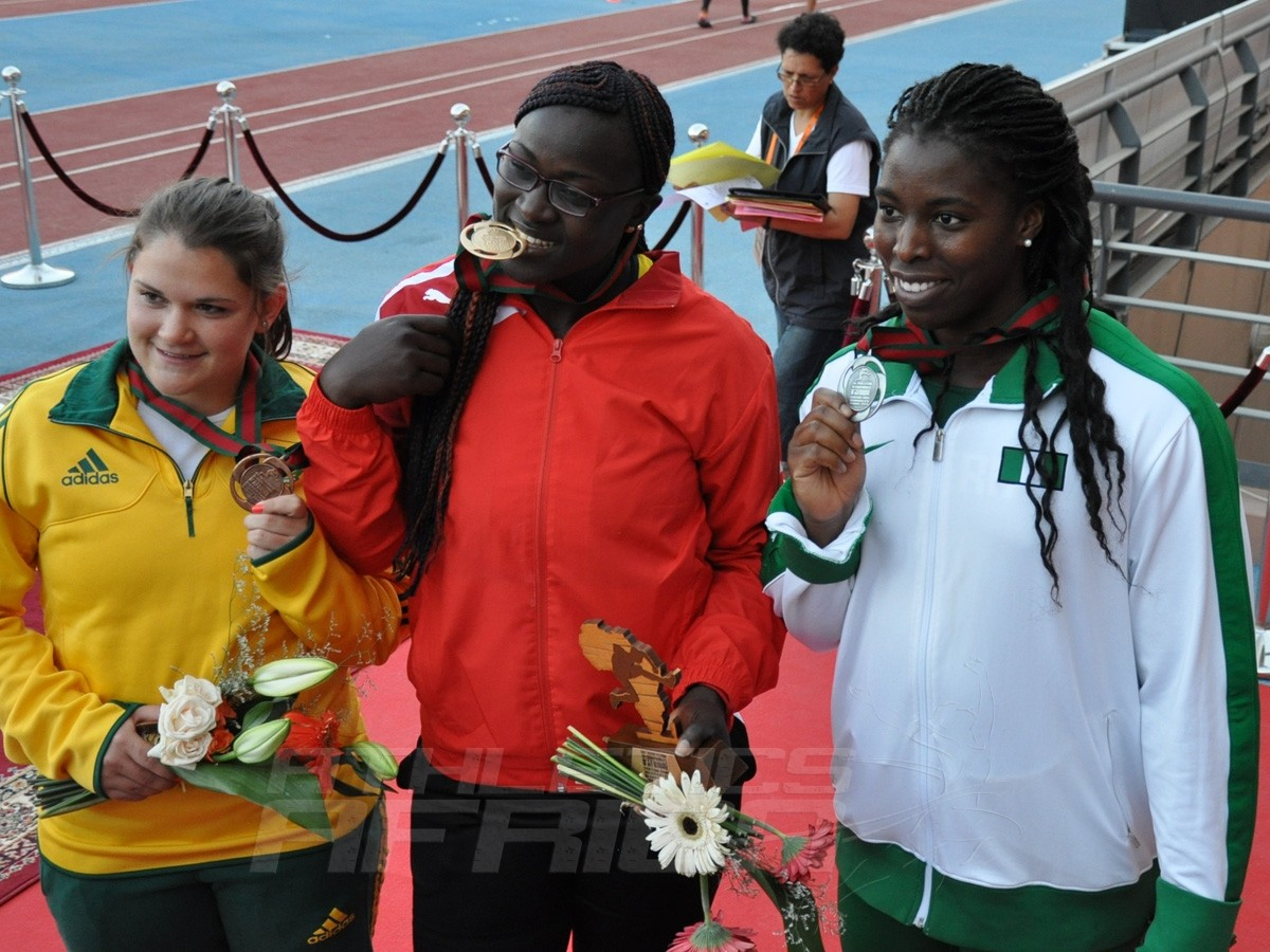Lezaan Jordaan - Auriol Sally Dongmo M - Chinwe Okoro - Shot Put Women / Photo credit: Yomi Omogbeja